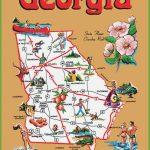 Pictorial Travel Map Of Georgia Regarding Printable Map Of Georgia