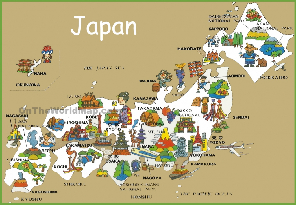Pictorial Travel Map Of Japan inside Printable Map Of Japan