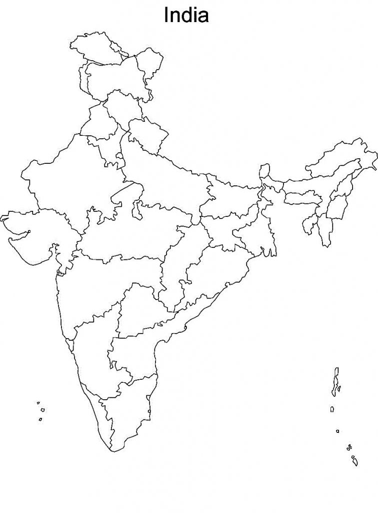 Pin4Khd On Map Of India With States In 2019 | India Map, India throughout Map Of India Outline Printable