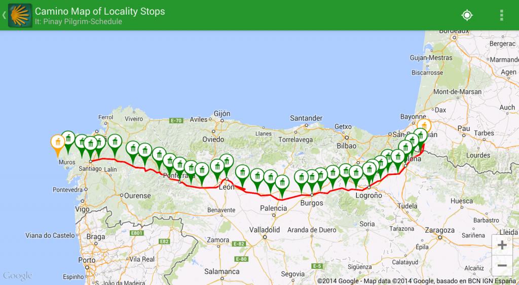 Pinay Pilgrim: Guides, Books And Apps For The Camino De Santiago pertaining to Printable Map Of Camino De Santiago
