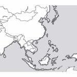 Pinchristine Srivastava On Homeschool Pinterest Within Blank Regarding Blank Outline Map Of Asia Printable