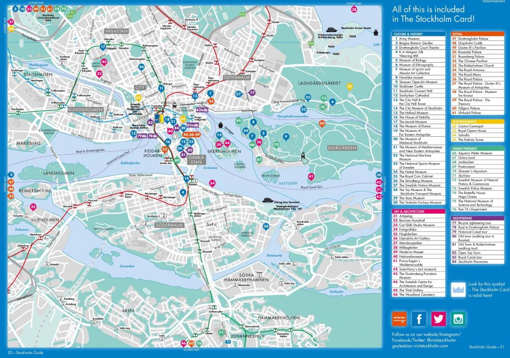 Pindani On Stockholm Sweden Trip | Tourist Map, Map, Stockholm with Stockholm Tourist Map Printable