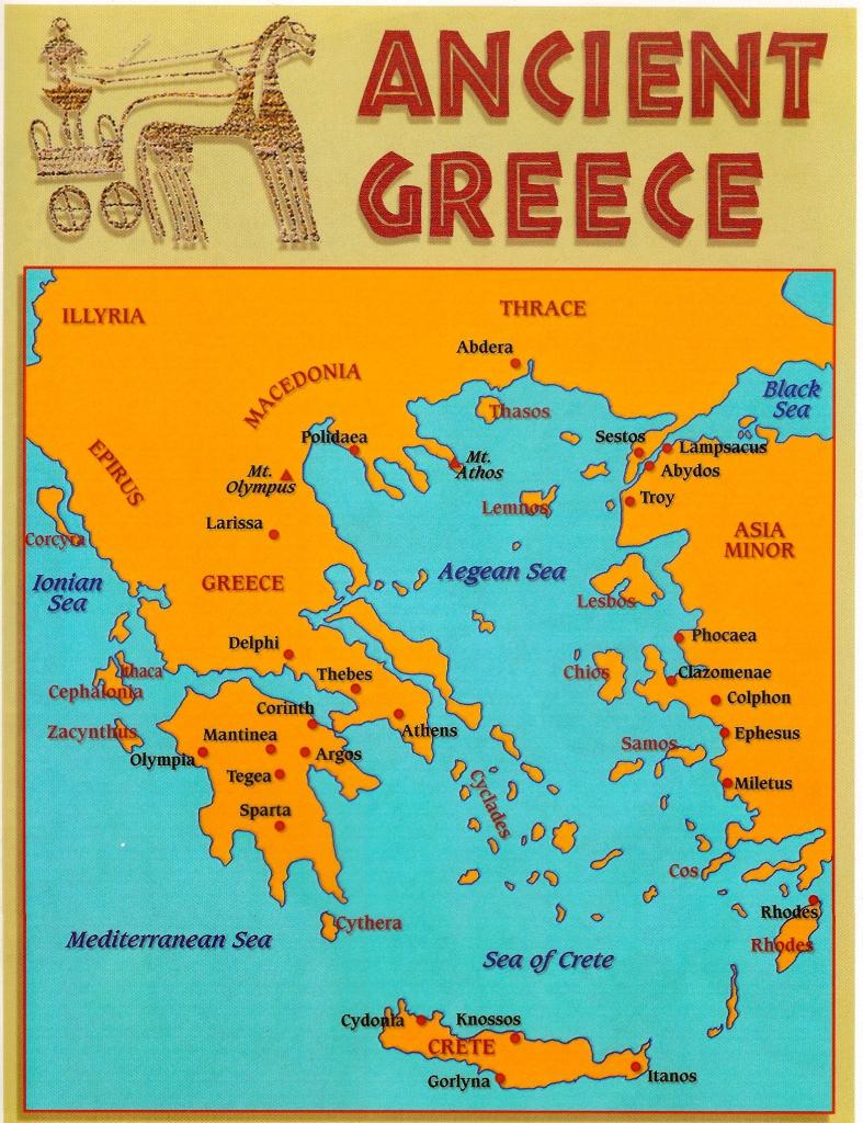Pind'anna Entrekin On Greek | Ancient Greece, Greece, Ancient pertaining to Ancient Greece Map For Kids Printables