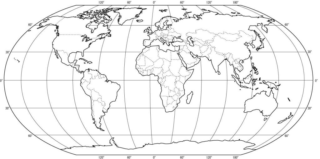Pinjohanna Kimpian On Learning | Blank World Map, World Map inside Flat Map Of World Printable