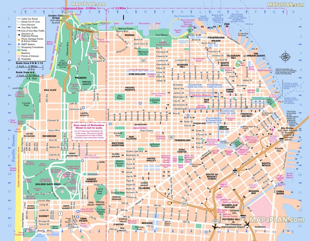 Pinricky Porter On Citythe Bay | Tourist Map, San Francisco throughout Printable Map San Francisco Cable Car Routes