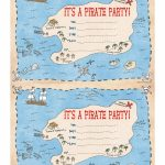 Pintara Hunter On Party Ideas | Pirate Party Invitations, Pirate Intended For Maps For Invitations Free Printable