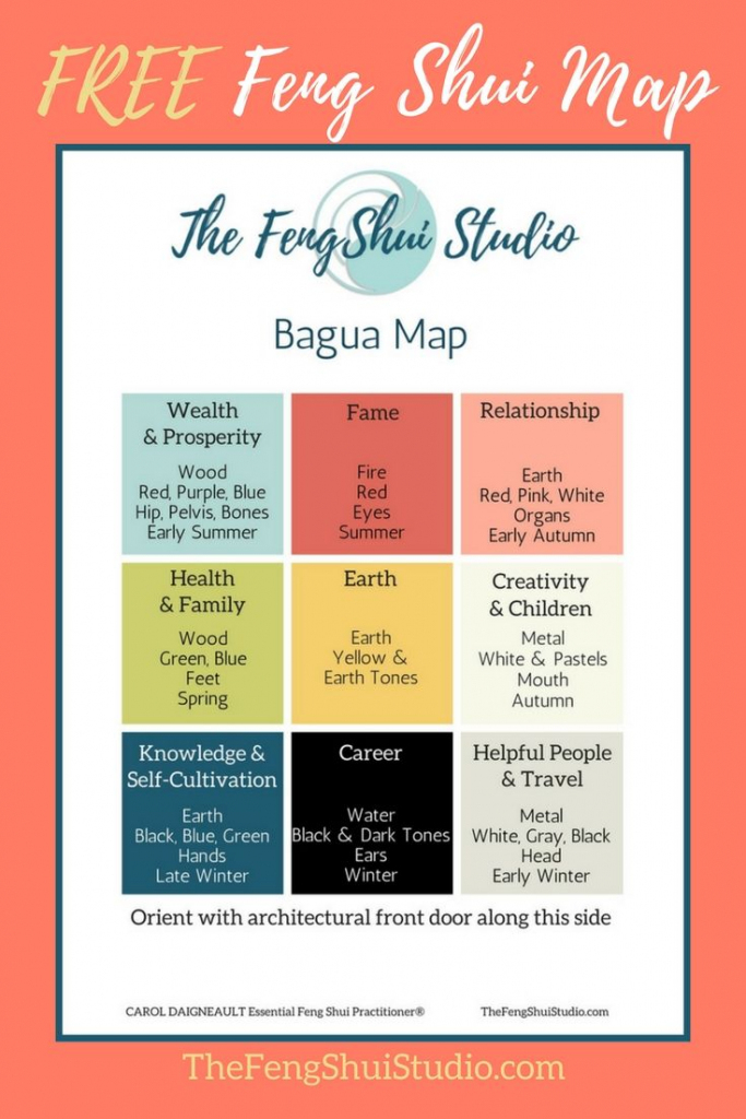 Pinthe Feng Shui Studio On Feng Shui Bagua Map | Feng Shui, Feng throughout Bagua Map Printable