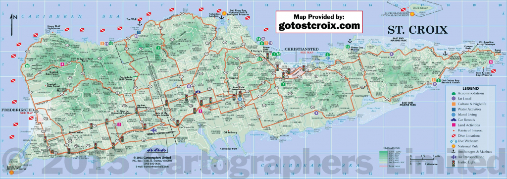Pinvilla Margarita St Croix On St Croix Map | Island Map, Map in Printable Map Of St John Usvi