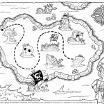 Pirate Treasure Map Coloring Pages Free Printable Earth Black And Pertaining To Pirate Treasure Map Printable