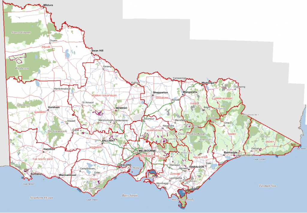 Places To Visit within Printable Map Of Victoria