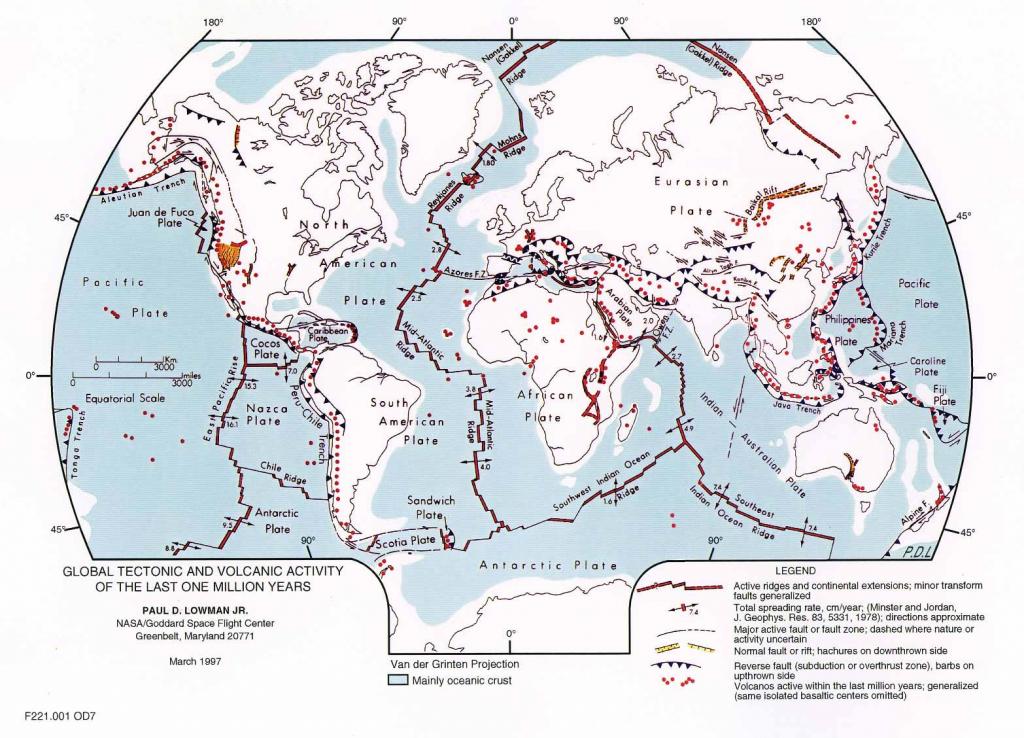 Plate Tectonics Map - Plate Boundary Map inside World Map Tectonic Plates Printable