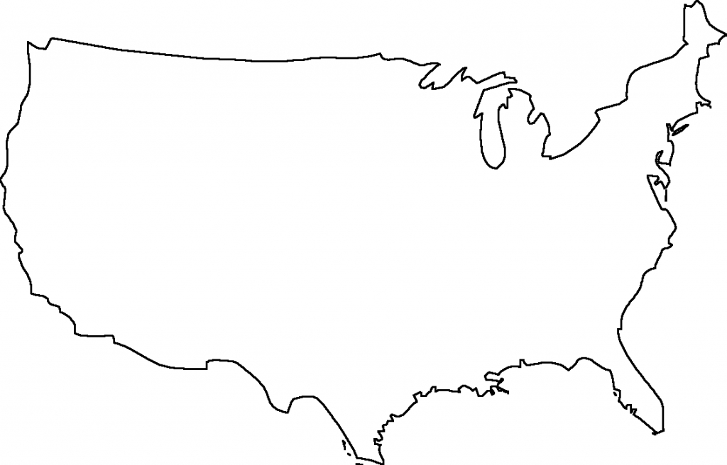 Png Usa Outline Transparent Usa Outline Images. | Pluspng regarding United States Map Outline Printable