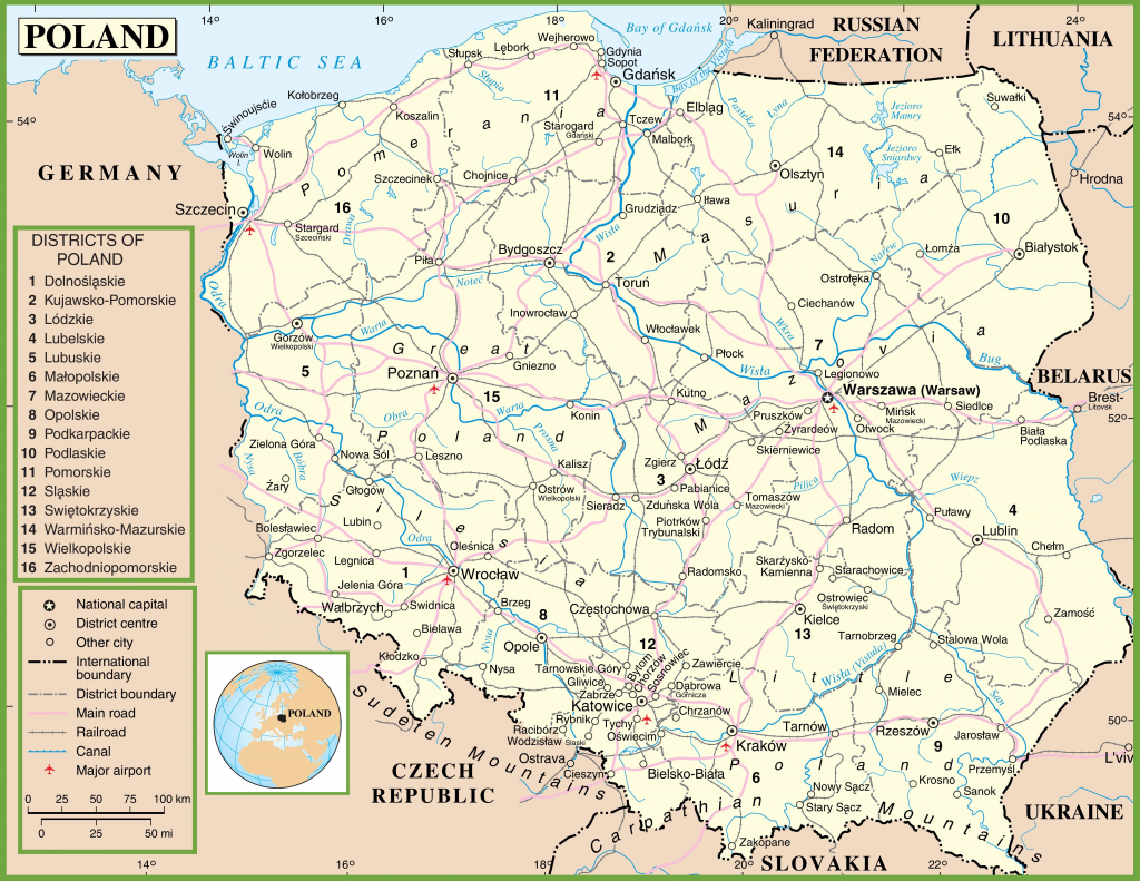 Poland Maps | Maps Of Poland in Printable Map Of Poland