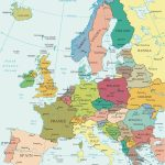 Political Map Of Europe   Countries Throughout Printable Map Of Europe With Countries And Capitals