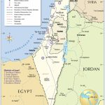 Political Map Of Israel   Nations Online Project Regarding Printable Map Of Israel