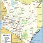 Political Map Of Kenya   Nations Online Project Pertaining To Printable Map Of Kenya