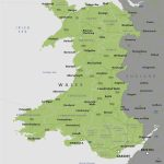 Political Map Of Wales   Royalty Free Editable Vector Map   Maproom Throughout Printable Map Of Wales