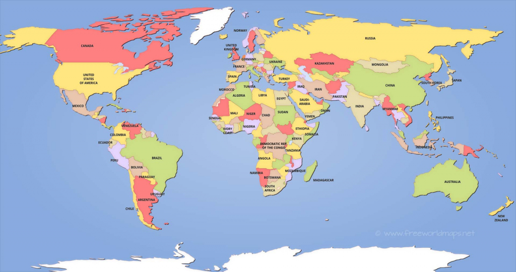 Political World Maps in World Political Map Printable