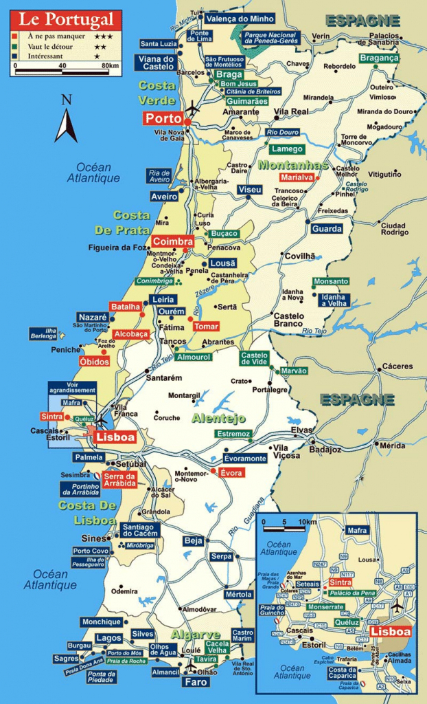 Portugal Maps | Printable Maps Of Portugal For Download within Printable Map Of Portugal
