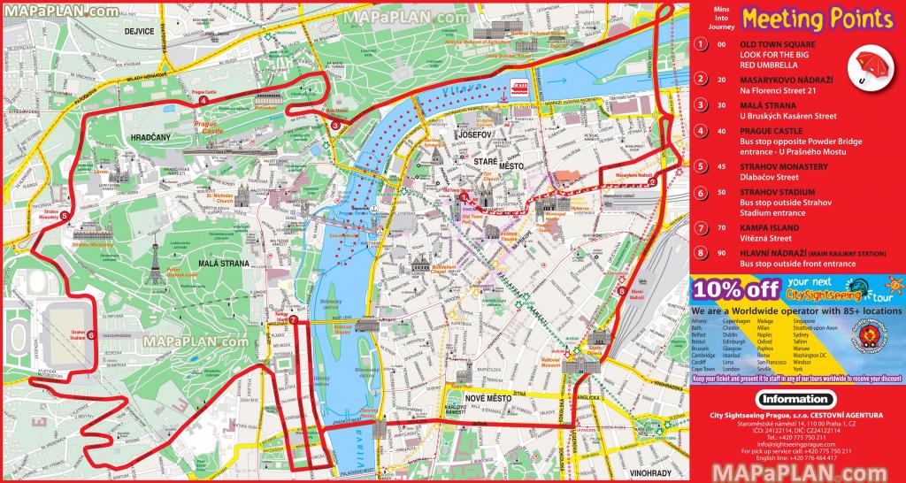 Prague Maps - Top Tourist Attractions - Free, Printable City pertaining to Prague City Map Printable