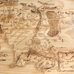 Print Of Hand Burned Map Of Middle Earth Wood Burn | Etsy Regarding Printable Map Of Middle Earth