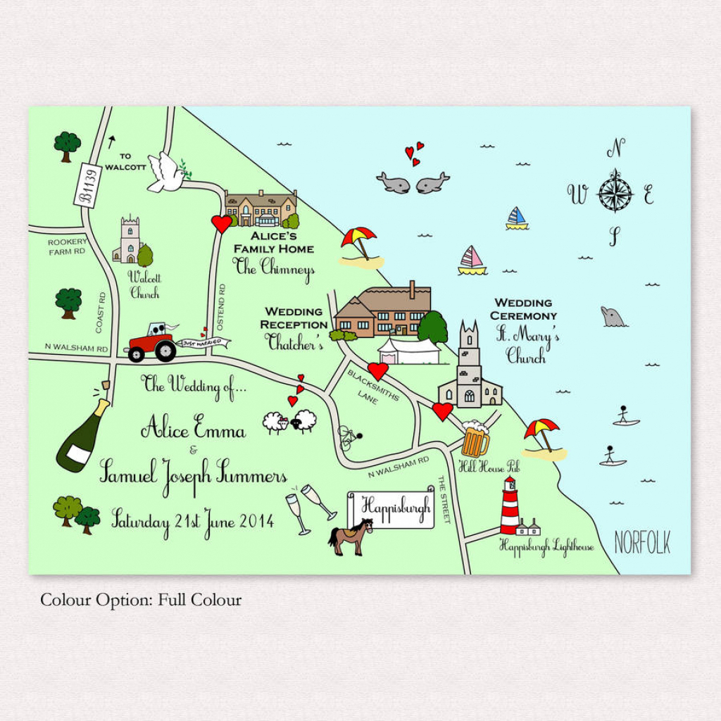 Print Your Own Illustrated Wedding Or Party Mapcute Maps - Free intended for Free Printable Wedding Maps