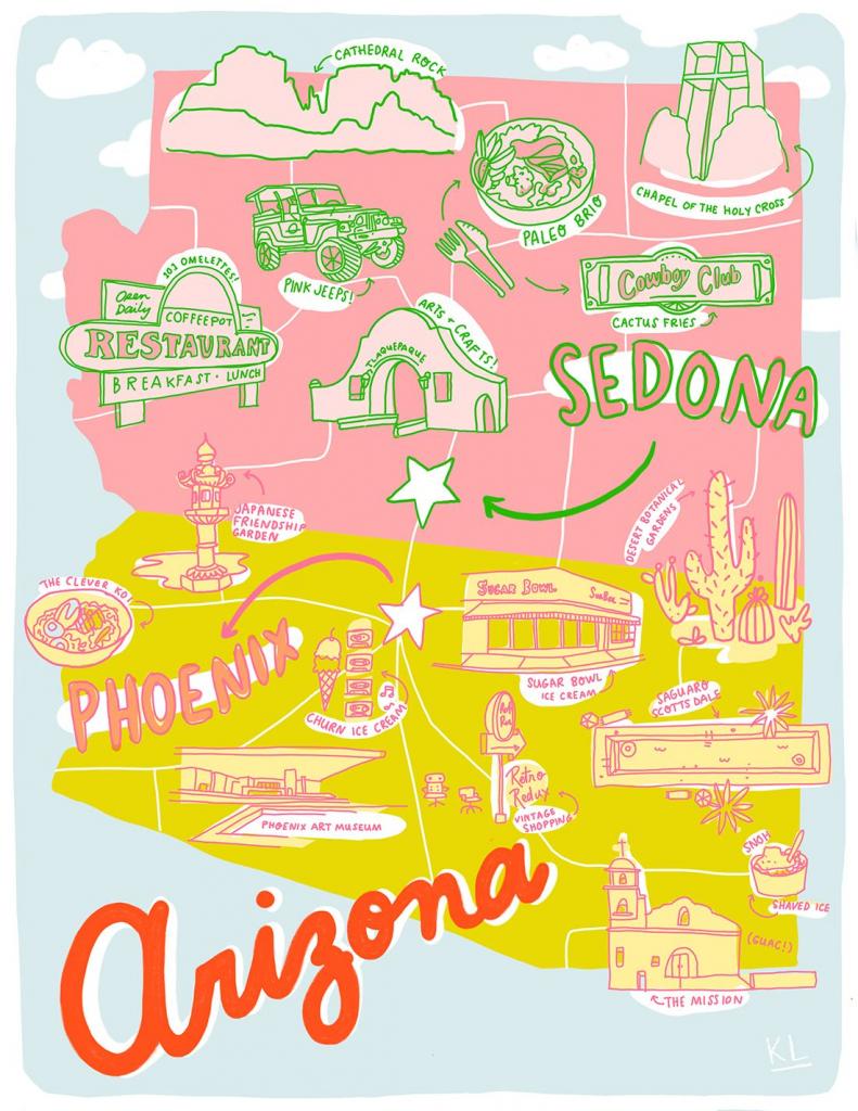 Printable Arizona Mapkristen Long X Aww Sam | Illustrations In pertaining to Free Printable Map Of Arizona