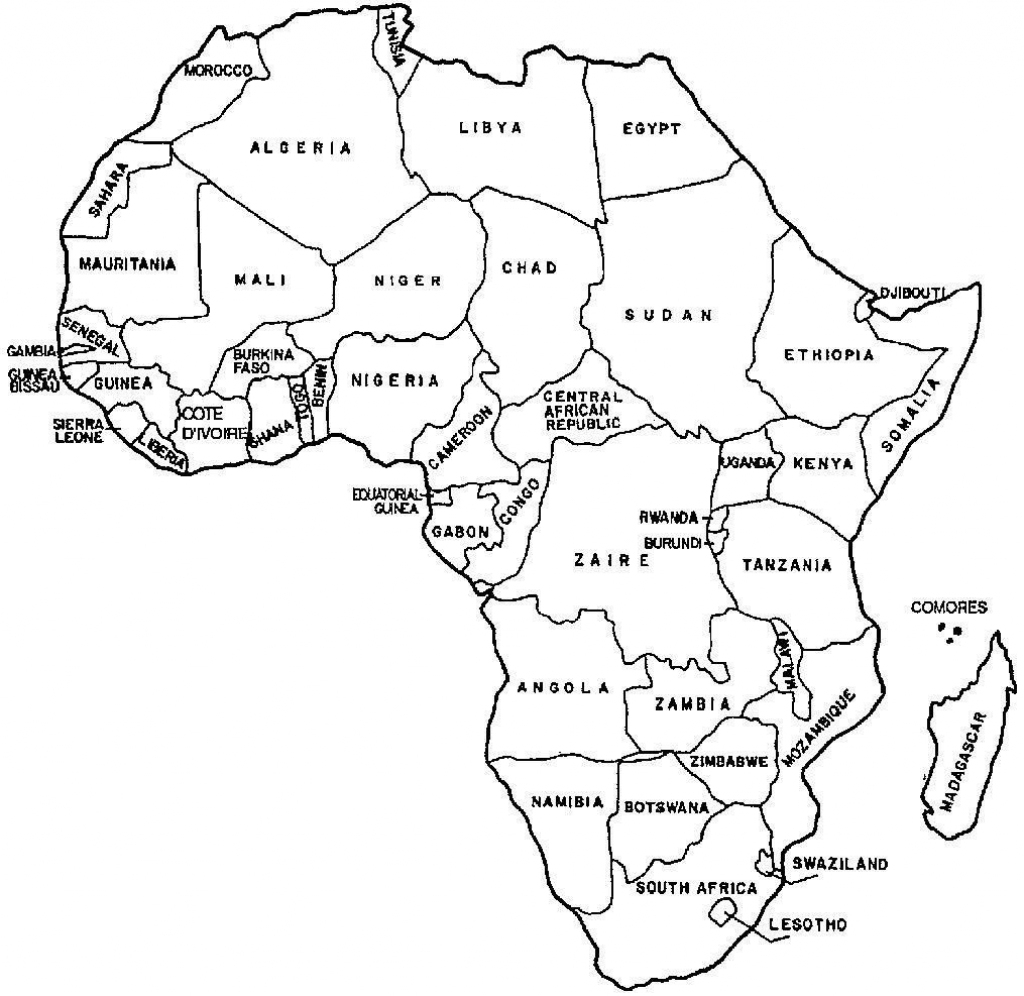 Printable Blank Map African Countries Diagram Outstanding Of High for Blank Outline Map Of Africa Printable