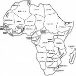 Printable Blank Map African Countries Diagram Outstanding Of High With Regard To Printable Map Of Africa
