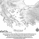 Printable Blank Map – Greece & The Aegean Iv – Ancient Greek History with Map Of Ancient Greece Printable