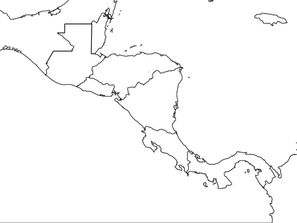 Printable Blank Map Of Central America Diagram New On Outline Free throughout Printable Blank Map Of Central America