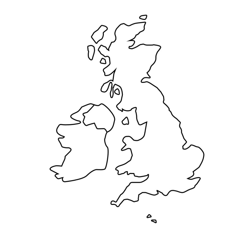 Printable Blank Map Of The Uk - Free Printable Maps with Blank Map Of Scotland Printable