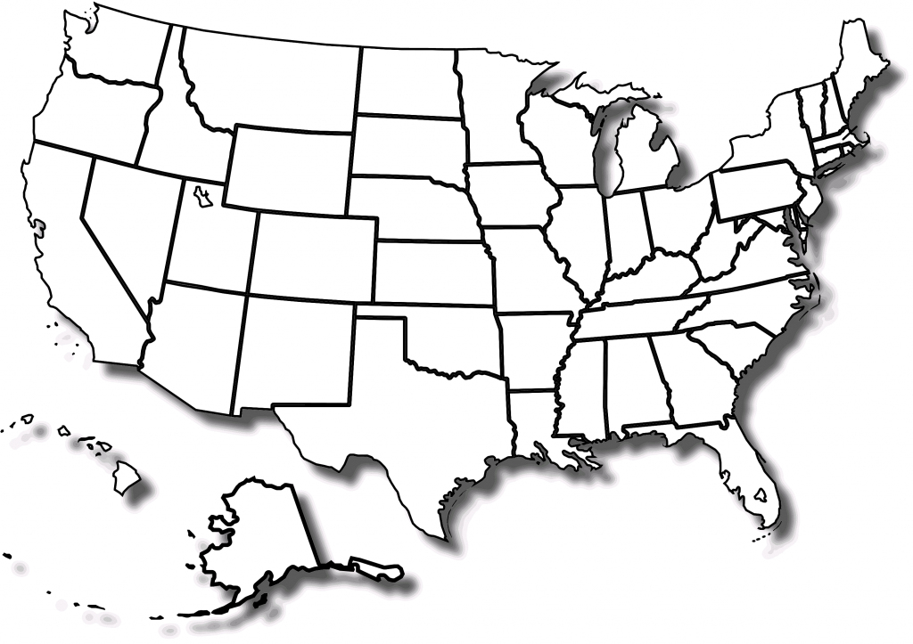 Printable Blank Map Of Usa - Ajan.ciceros.co regarding Us Map Unlabeled Printable