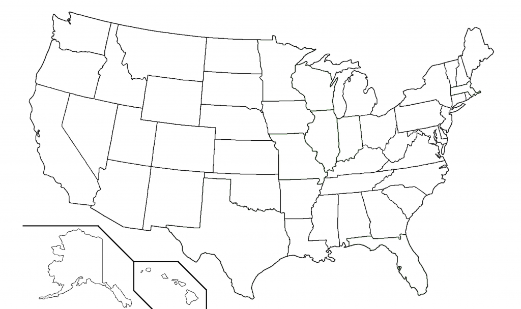 Printable Blank Us Map Free Maps United States In Beststate Of 9 for Map Of United States Without State Names Printable