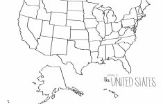 Blank Printable Usa Map