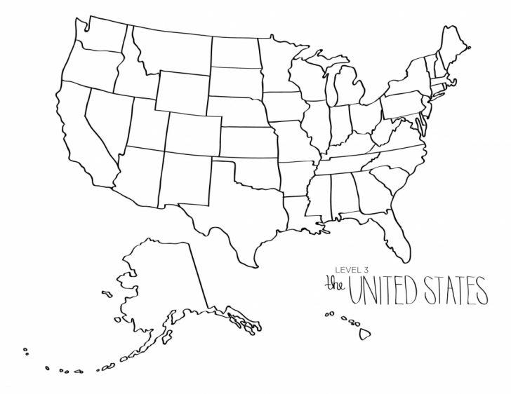 Blank Printable Usa Map