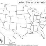 Printable Blank Us State Map A Blank Us Map Printable Inspirational For Us Map Unlabeled Printable