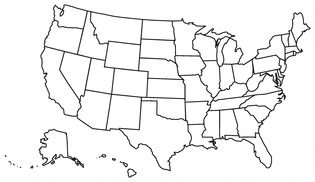 Printable Blank Us State Map A Blank Us Map Printable Lovely United regarding Printable Blank Usa Map