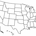Printable Blank Us State Map A Blank Us Map Printable Lovely United Within Blank Us State Map Printable