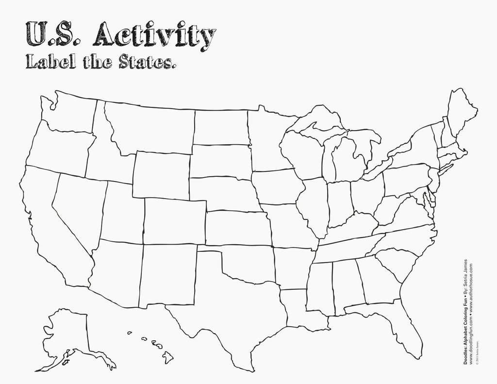 Printable Blank Us State Map A Blank Us Map Printable New 50 States intended for Us Map Test Printable