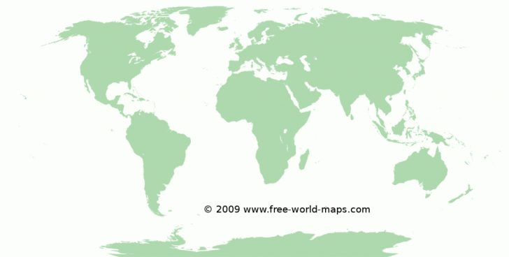 Free Large Printable World Map