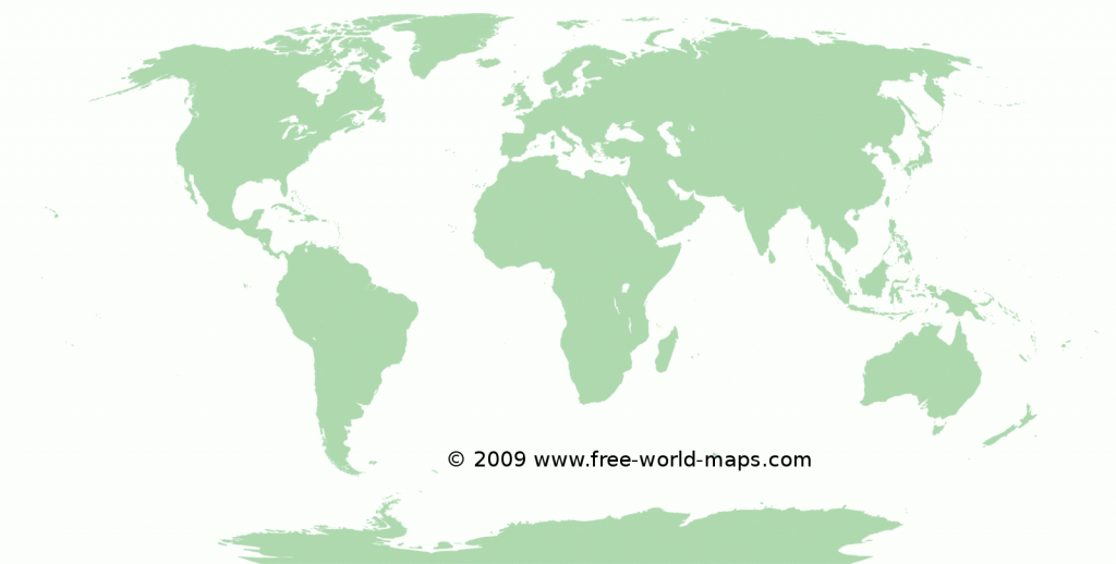 Printable Blank World Maps | Free World Maps pertaining to Free Large Printable World Map