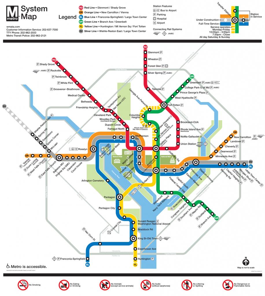 Printable Dc Metro Map | Fysiotherapieamstelstreek within Printable Dc Metro Map