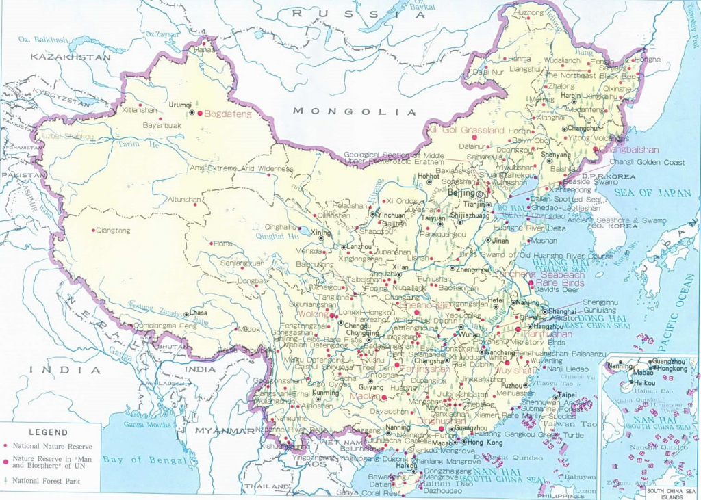 Printable Detailed Map Of China | Detailed Resources Map Of China in Printable Map Of China