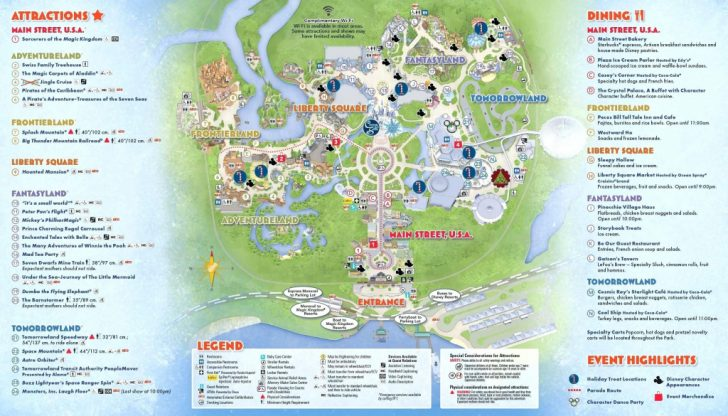 Printable Disney World Maps 2017