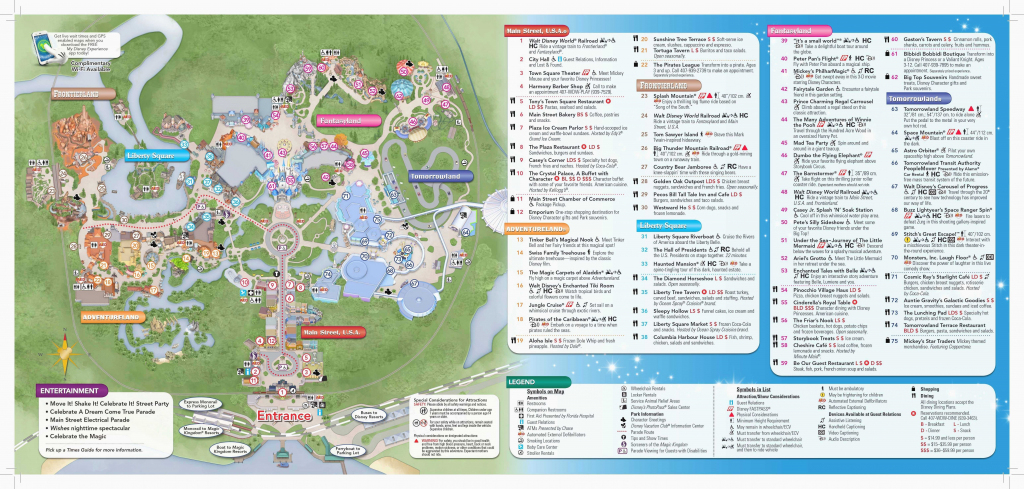 Printable Disney World Maps | Printable Maps intended for Printable Disney World Maps