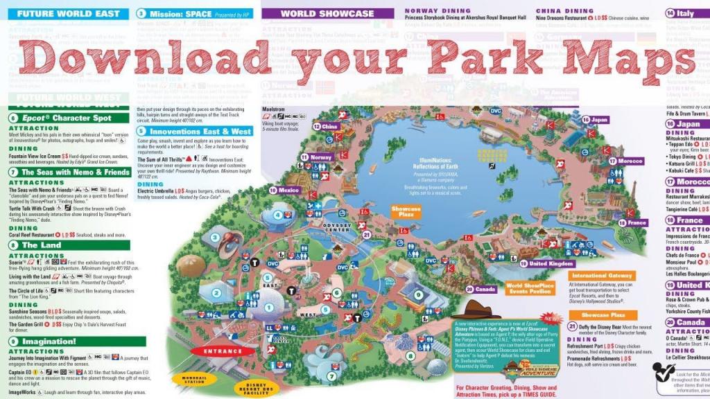Printable Disney World Maps | Printable Maps with regard to Printable Epcot Map 2017