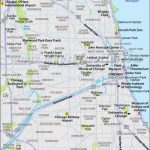 Printable Large Chicago Map Inside Printable Map Of Chicago