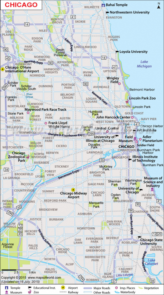 Printable-Large-Chicago-Map inside Printable Map Of Chicago