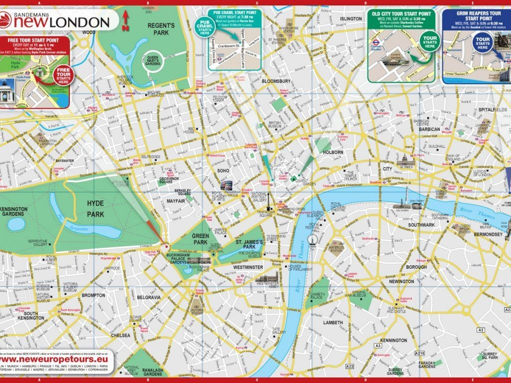Printable London Street Map | Globalsupportinitiative pertaining to London Street Map Printable